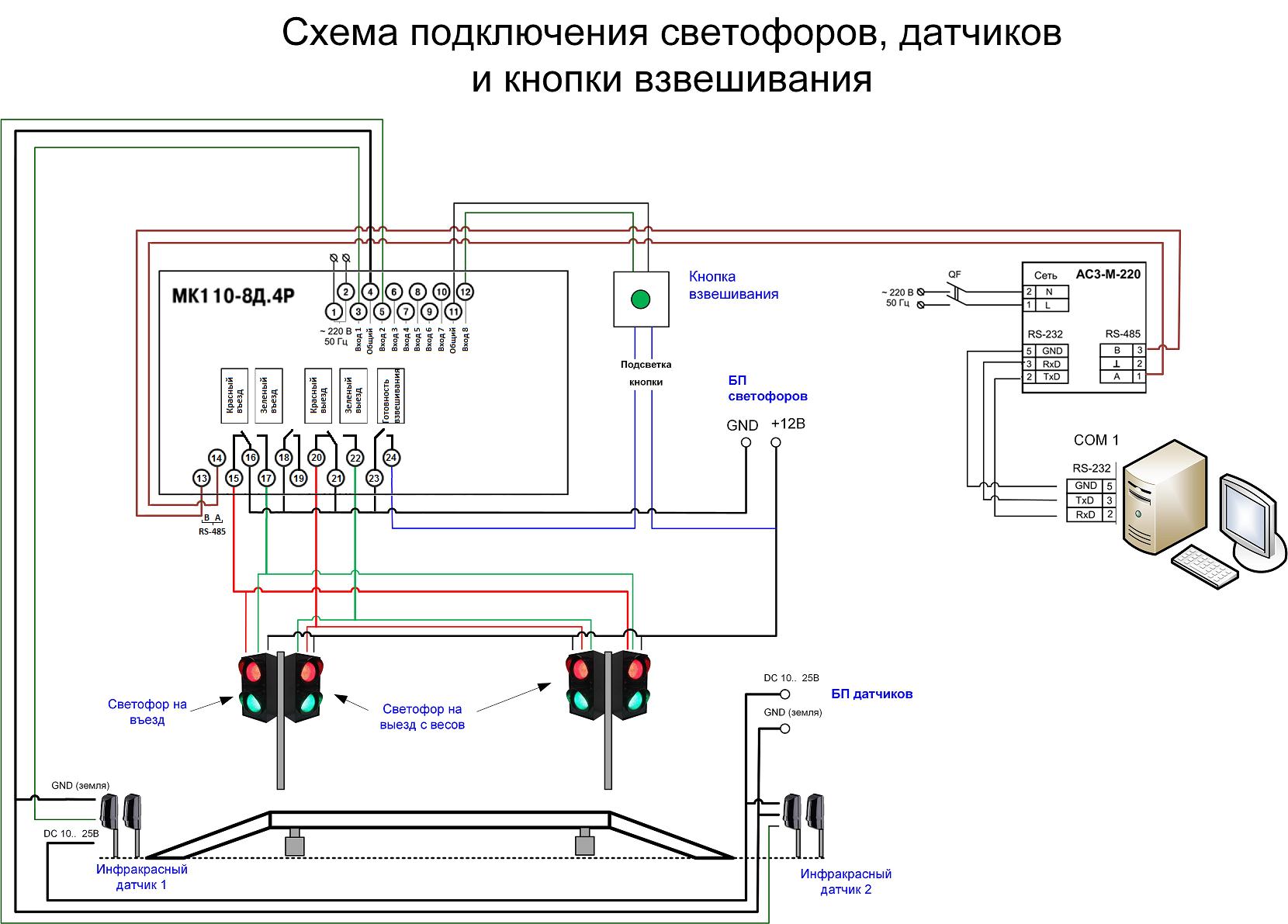 Инфракрасные выключатели схемы подключения